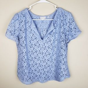 New York & Company | Floral Crochet Top